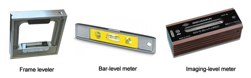 There is a metal frame leveler, imaging level meter with three high-precision glass tubular bubble level vials.